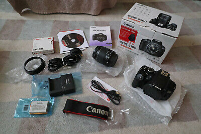 Canon EOS 650D with EF-S 18-55IS II lens and box - Spares or Repair