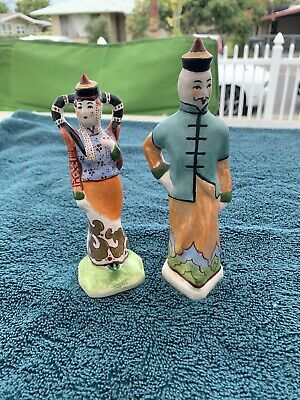 Two Chinese Porcelain Man And Woman Figures