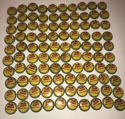 100 Vintage Yellow Mason's Root Beer Soda Pop Bottle Caps CORK LINED Original