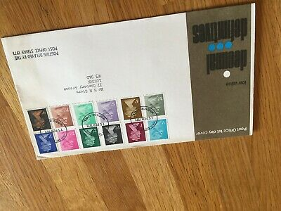 GB UK decimal definitives 15.2.1971 FDC cover delayed by postal strike