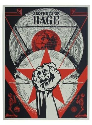 """""""Prophets of Rage"""" Shepard Fairey Obey art Print Gig Poster #600"""