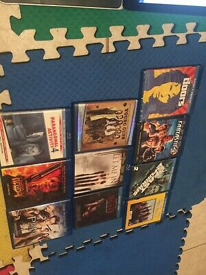 Lot Of 10 Blu Ray Movie Dvd Action Used No Digital Codes Please Read