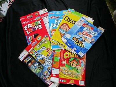 """2005 TEEN TITANS Honey Comb, LUCKY CHARMS & Others """"EMPTY"""" Cereal Boxes/6 Boxes"""