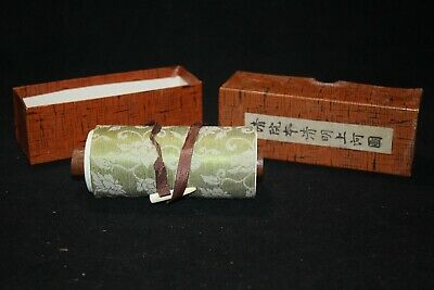 A City of Cathay Along the River During Qingming Festival Scroll in Box