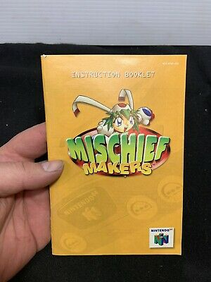 Mischief Makers - Nintendo 64 N64 - Instruction Manual Only booklet