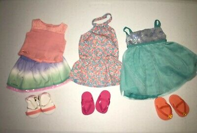 American Girl Truly Me Summer Mix & Match Skirt Set & Dresses *Collector Owned