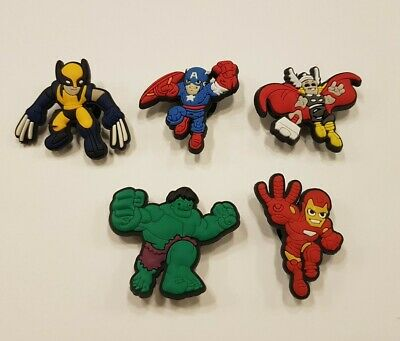 Superhero Shoe Charms Crocs and Jibbitz Bracelets Set 5 pieces