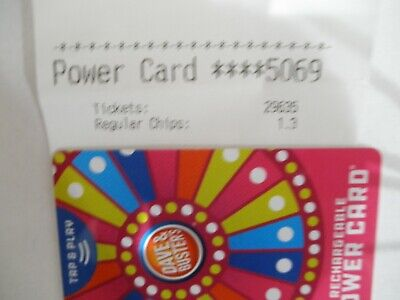 Dave & Busters Power Card  with 29,635 Tickets -D&B