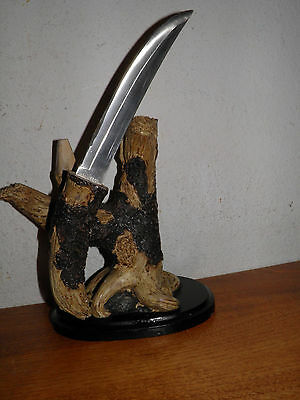 Hand Painted Sculpture w/ Knife Letter Opener Large Stainless doubles as Display