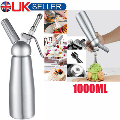 Whipped Cream Chargers Liss Canisters & Mosa Whippers 1000ml Foam Spray Whipping