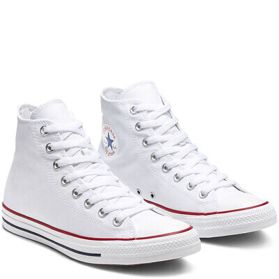 CONVERSE Chuck Taylor All Star Classic High Top Scarpe Sneakers WHITE M7650C