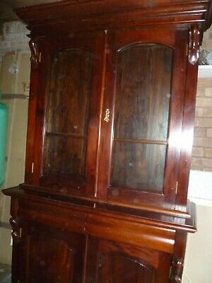 Victorian reproduction hardwood chiffonier bookcase