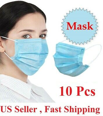 10 PC Face Mask Mouth & Nose Protector Respirator Masks with Filter