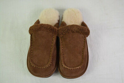Nuknuuk Men's Sheepskin Slippers (Brown) Size 11