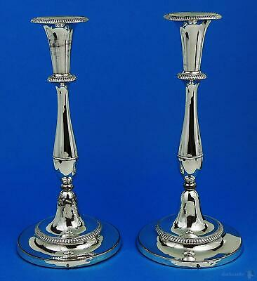 MATTHEW BOULTON GEORGE III OLD SHEFFIELD PLATE CANDLESTICKS c1790 11 Inches
