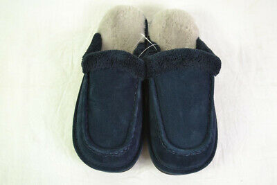 Nuknuuk Men's Sheepskin Slippers (Navy) - Size 10