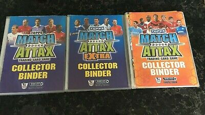 2 x Topps Match Attax 2008 / 2009 & 2009/2010 Binders With Cards 08/09 09/10
