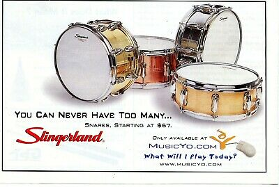 2000 small Print Ad of Slingerland Snare Drums you can never have too many...