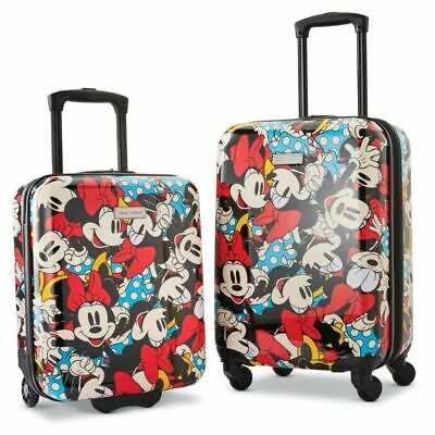 """American Tourister 2-Piece Rolling Luggage Set Disney Mickey Mouse 18""""/20"""""""