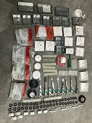 Joblot new Various electrical accessories sockets switches etc