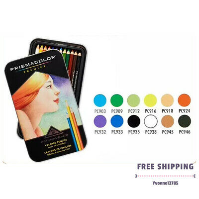 Prismacolor Premier Colored Pencils Set of 12 Assorted Soft Core Color Pencils