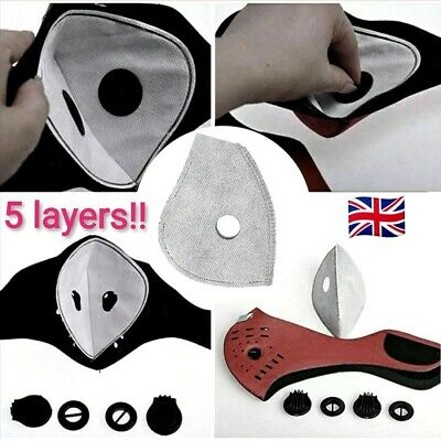 5 Layer Carbon Face Filter. Anti Dust/Pollution. Fast Delivery! (UK Seller)
