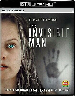 THE INVISIBLE MAN 4K UHD DISC + Case, Cover, & Artwork ONLY