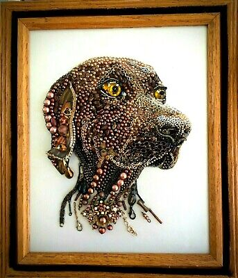 Jewelry Framed Dog Portrait Art Decor Gift