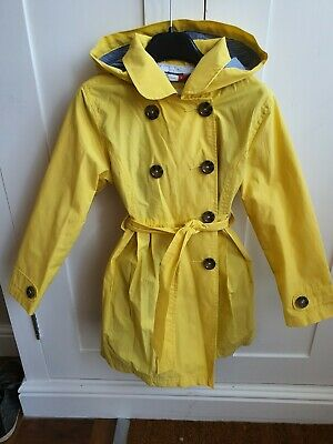Girls John Lewis Hooded yellow mac Coat, Jacket, Age 7 Years excellent condition