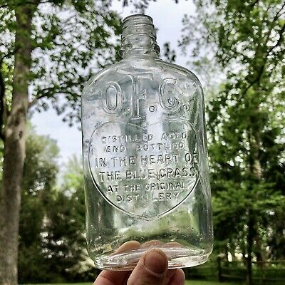 Scarce Antique O F C Heart Of The Blue Grass Whiskey Bottle Buffalo Trace 1930s