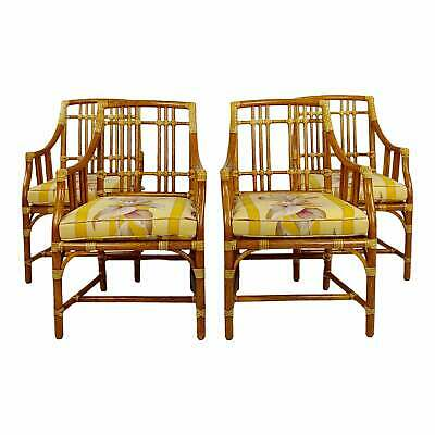 Vintage McGuire Rattan Dining Chairs - set of 4