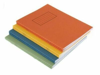 School Exercise Books A5 Silvine Rhino Ruled Lined Margin Squared Maths 80 Page