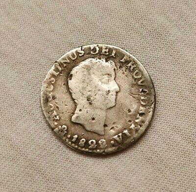 Mexico 1822 1 Real ITURBIDE Very Scarce Silver Mexican Coin