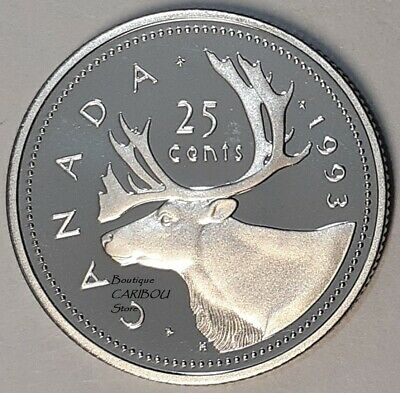 1993 Canada Proof 25 Cents
