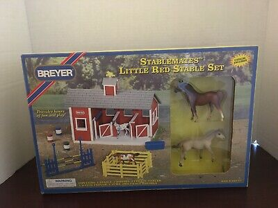 Breyer Stable Stablemates Little Red Stable Set Vintage 1998 New In Box # 59197