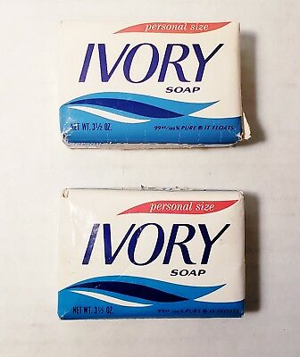 Ivory Soap Bars Personal Size Sealed Lot Of 2 Vintage Bathroom