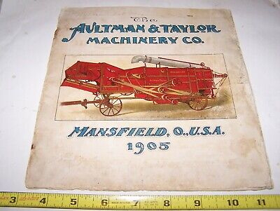 Old 1905 AULTMAN TAYLOR Steam Tractor Sales Catalog Threshing Machinery Hit Miss
