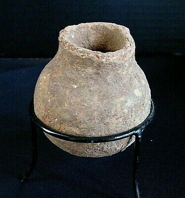 Ancient Holy Land - Middle Bronze Period 1850 - 1550 BC Pottery Vessel Pot - COA