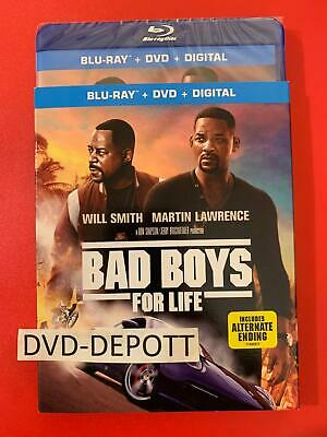 Bad Boys for Life Blu-ray+DVD+Digital HD &Slipcover REGION ABC New FAST Free ShP
