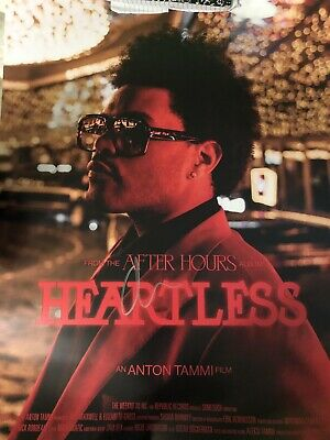 SIGNED The Weeknd After Hours Heartless Film Poster 24X30 SHIPPED ASAP