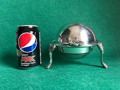Vintage Silver Plated Dome Topped Butter Caviar Server Dish