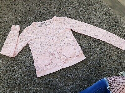 Baby Pink Lace Cardigan Top Diamante Buttons 12-13 Years Tammy bhs