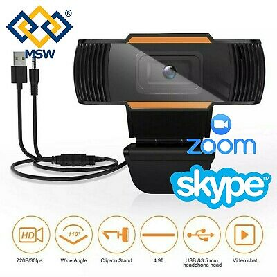 WebCam PC 1080P 720P HD Computer Videolezioni Videoconferenze Skype Teams Zoom