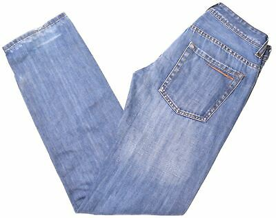 Blue Dirty Dark Stone Wash Relaxed Fit Tom Tailor Men/'s Jeans Trad