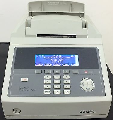 Applied Biosystems GeneAmp ABI9700 96 Well PCR Thermal Cycler Silver Block