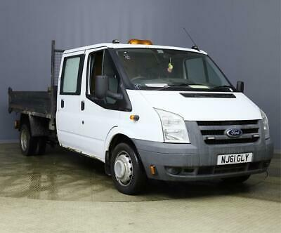 2012 Ford Transit T350 2.4 Tdci 100 Bhp 6 Speed Manual Double Cab Steel Tipper