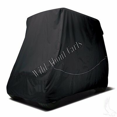 """Golf Cart Universal Storage Cover with 80"""" Top in Black"""