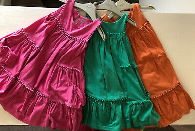 Pack Of Three Fab Bright Girls Summer Dresses From Next Age 3-4Yrs Exc Condition
