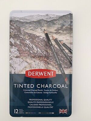 Derwent Tinted Charcoal Pencils 12 Tin Ref: 2301690