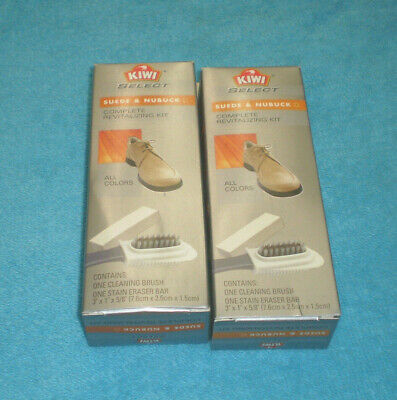 2 Kiwi Select Suede & Nubuck Complete Revitalizing Kits - New In Package